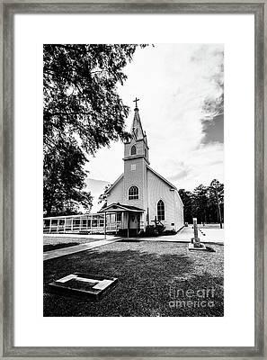 St. Margaret Catholic Church - Springfield Louisiana Bw Framed Print