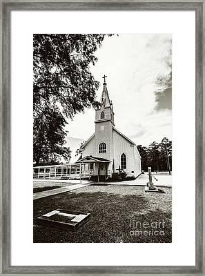 St. Margaret Catholic Church - Springfield La Sepia Framed Print