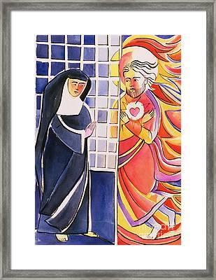 St. Margaret Mary Alacoque, Cloister - Mmmmc Framed Print