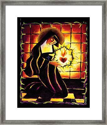 St. Margaret Mary Alacoque - Mmmma Framed Print