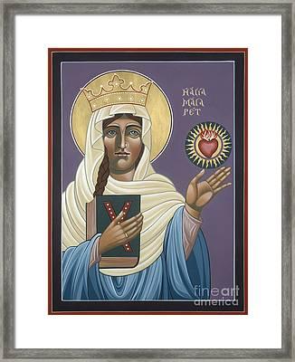 St Margaret Queen Of Scotland 158 Framed Print