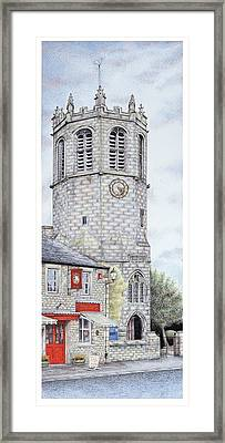 St Margarets Church Clock  Hornby  Lancashire Framed Print by Sandra Moore