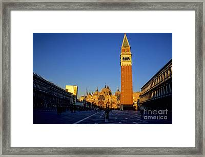 St Marks In Venice In Afternoon Sun Framed Print by Michael Henderson