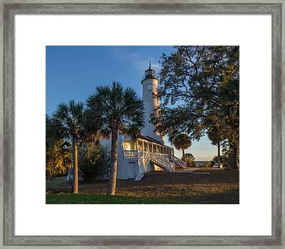 St. Marks Lighthouse, Fl Framed Print by Capt Gerry Hare