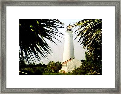St Marks Lighthouse Framed Print by Frederic Kohli