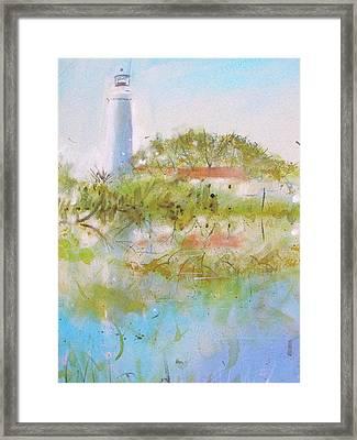 St Marks Lighthouse Framed Print