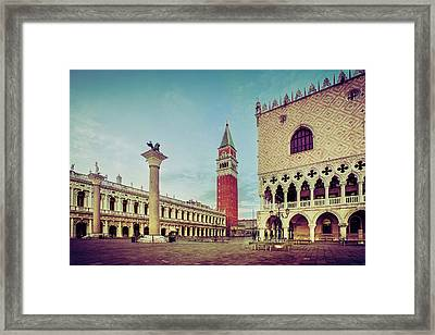 Framed Print featuring the photograph St. Mark's Square by Andrew Soundarajan