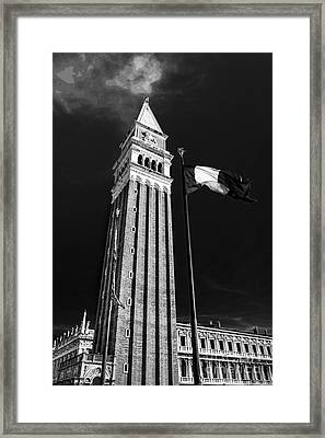 St. Marks Square Bell Tower Venice Framed Print by Ken Andersen