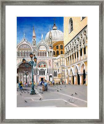 St. Marks Square Framed Print by Leah Wiedemer