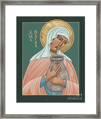 St Martha Of Bethany  Framed Print