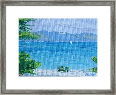 St Martin From Anguilla Framed Print by Margaret Brooks