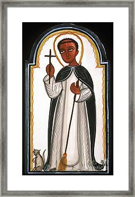 St. Martin Of Porres - Aomap Framed Print