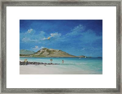 St. Martin Playground By Alan Zawacki Framed Print