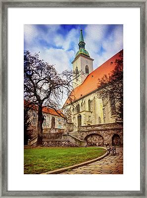 St Martins Cathedral Bratislava Framed Print