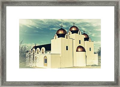 St Mary And St Abraam Coptic Orthodox Church 2 Framed Print by Luther Fine Art