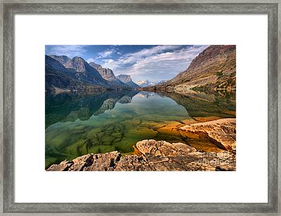 St Mary Emerald Green Waters Framed Print