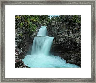 St. Mary Falls Framed Print