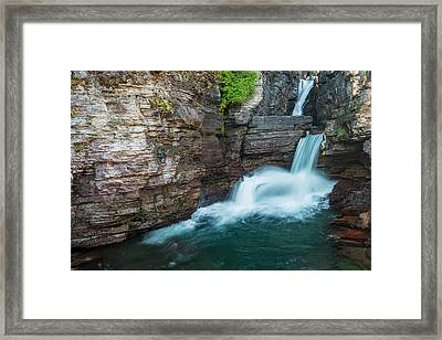 Framed Print featuring the photograph St. Mary Falls by Gary Lengyel
