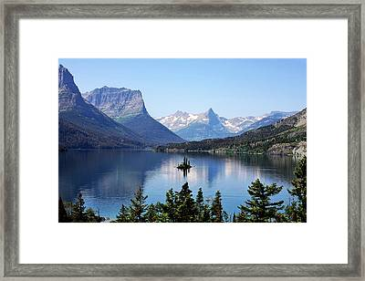 St Mary Lake - Glacier National Park Mt Framed Print