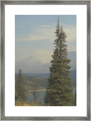 St. Mary Lake, Glacier, Montana Framed Print by Joseph Thiebes