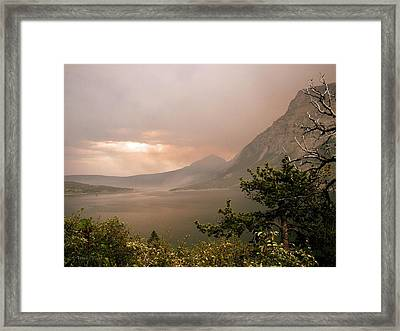 St Mary Lake In The Smoke Framed Print