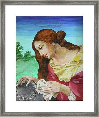 St. Mary Magdalene Mourning Framed Print