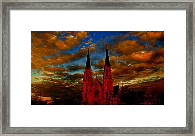 St. Mary Framed Print by Martin Morehead