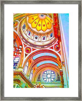 St. Mary Of The Angels 1 Framed Print by Dave Luebbert