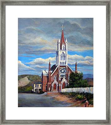 Framed Print featuring the painting St. Mary Of The Mountains by Donna Tucker