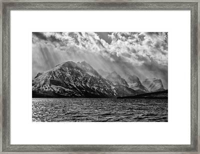 St Mary Storm, Glacier National Park  Framed Print
