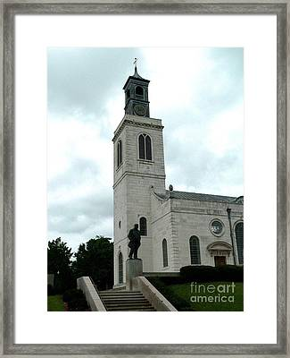 St Mary The Virgin At Westminster College Framed Print by David Bearden