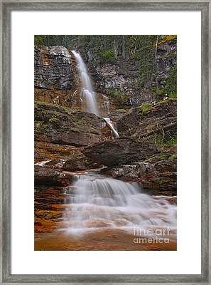 St. Mary Triple Cascades Framed Print by Adam Jewell