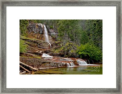 St Mary Virginia Falls Framed Print by Adam Jewell
