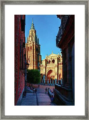 St Mary's Cathedral - Catholic Cathedral In Toledo, Chair Of The Primate Of Spain, The Main Cathedra Framed Print