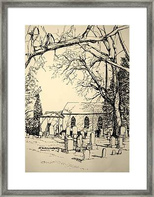 St. Mary's Cemetary Framed Print by George Lucas