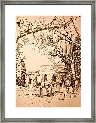 St Mary's Cemetery Framed Print by George Lucas