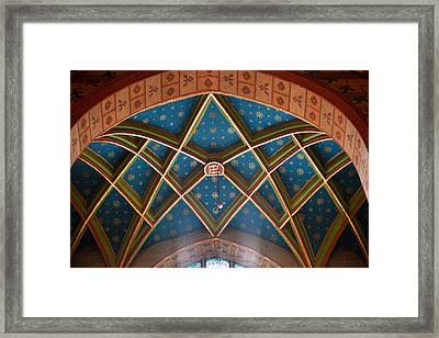 St. Mary's Church Architectural Details In Krakow Framed Print