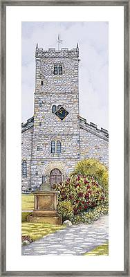 St Mary's Church Clock  Kirkby Lonsdale  Cumbria Framed Print by Sandra Moore
