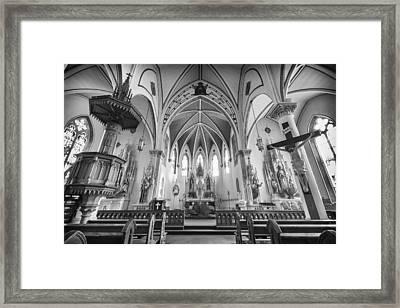 St Mary's Church Sanctuary - Bw Framed Print