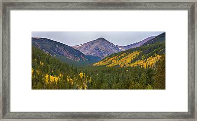 St Mary's Glacier Area Autumn Panorama Framed Print