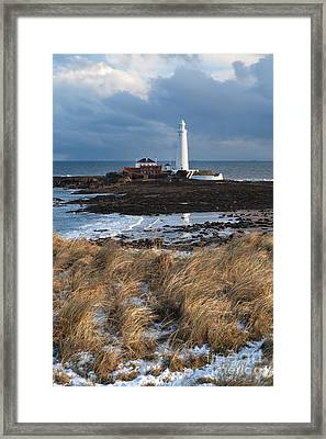 St Mary's Island Winter Framed Print by Bryan Attewell