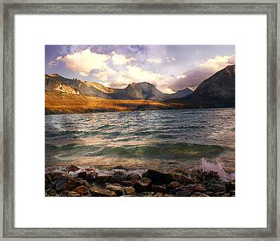 St. Mary's Lake 2 Framed Print by Marty Koch