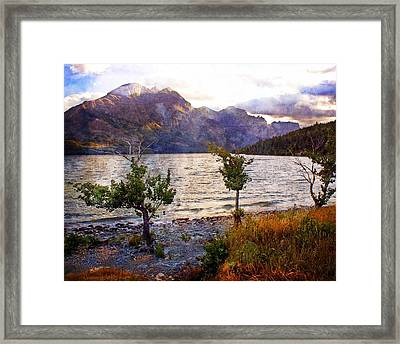 St. Mary's Lake 4 Framed Print by Marty Koch