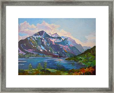 St. Marys Lake Glacier National Park Framed Print