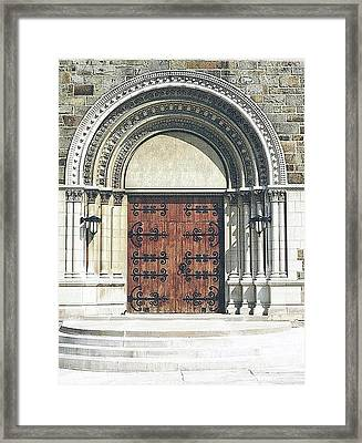 St. Mary's Of Redford Entrance Framed Print