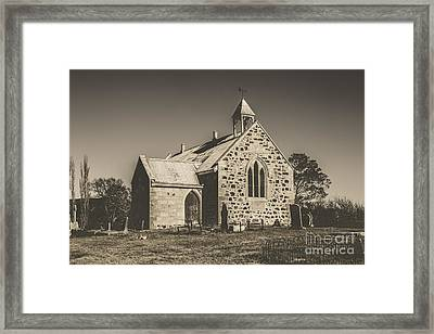 St Marys Vintage Church Framed Print