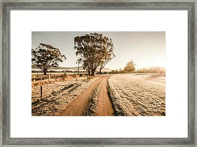 St Marys Winter Country Road Framed Print by Jorgo Photography - Wall Art Gallery