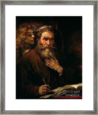 St Matthew And The Angel Framed Print