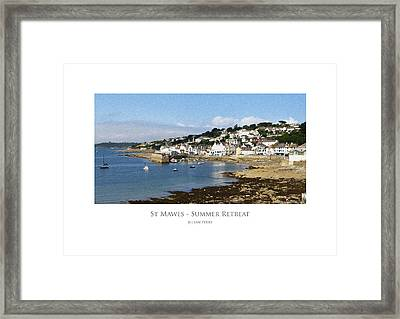 Framed Print featuring the digital art St Mawes - Summer Retreat by Julian Perry