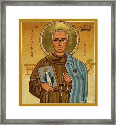 St. Maximilian Kolbe - Jckol Framed Print